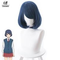 ROLECOS Anime Domestic na Kanojo Cosplay Hair Rui Tachibana 33cm Short Dark Blue Heat Resistant Synthetic Hair Cosplay Hair