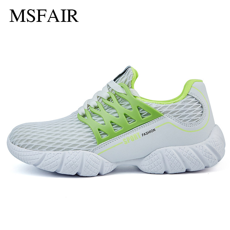Msfair Breathable Mesh Men Running Shoes for Men Summer Breathable Mesh Male Walking Shoes Lightweight Men Sneakers Sport Shoes