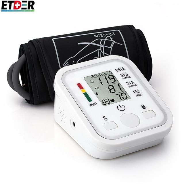 Цифровая плечи артериального давления кардиомониторы тонометр портативный здравоохранения вр артериального давления метров сфигмоманометр