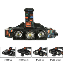 2xCREE XML T6 Headlight Flashlight 5000lm Zoom Waterproof Headlamp Lantern LED Head lamp Forehead Rechargeable 18650 Battery yunmai 7 led headlamp new xml t6 usb headlight 18650 rechargeable battery flashlight forehead head lamp hunting and fishing q6