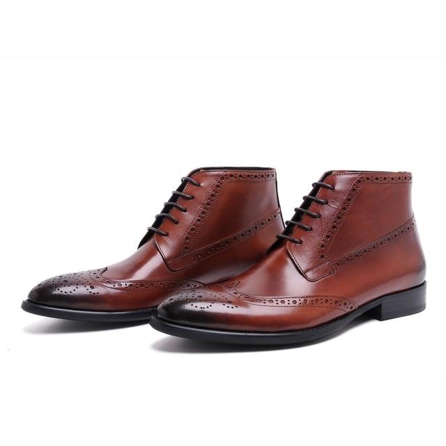 1d1c69e5fcb Marrón / moda para hombre botines casuales 2014 puntiagudas botas de vestir  de negocios Toe hombres