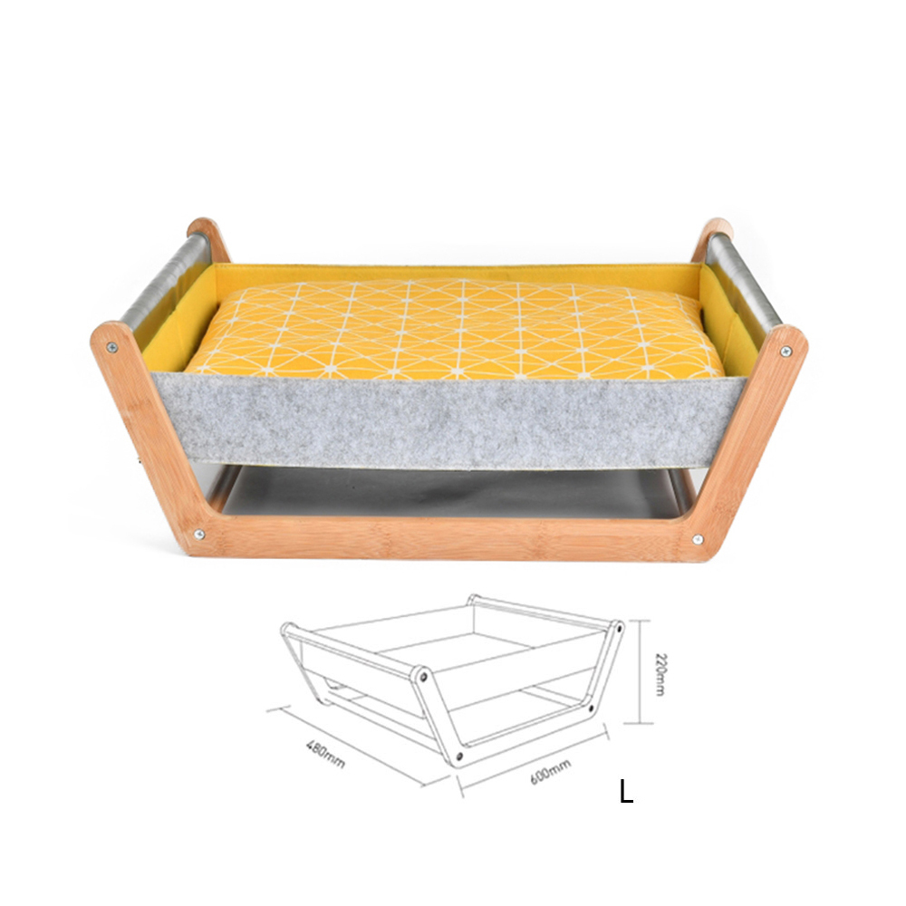 Comfortable Pet Hammock Wooden House With Hanging Bed And