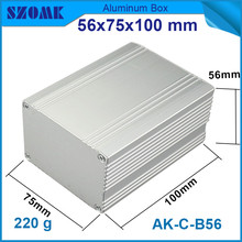 1 piece 56x75x100mm good looking aluminium enclosure electrical junction cabinet for LED control