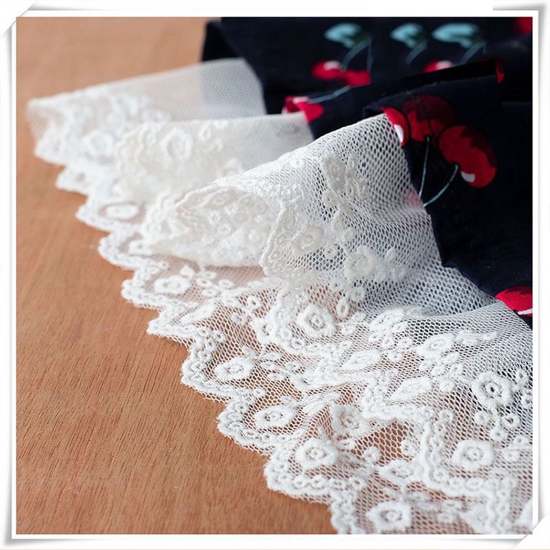 6cm 1y cotton embroidery mesh Lace Trimmed Cloth handmade DIY wedding dress cuffs skirt home decoration accessories lace fabric