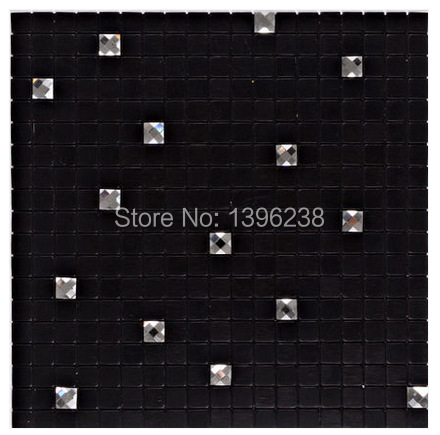 Black Self <font><b>adhesive</b></font> Diamond Aluminum Pattern Mosaic <font><b>Tile</b></font>,Showroom KTV Display Bar Wall Decor Metal <font><b>Tile</b></font> Backsplash,LSLCB08