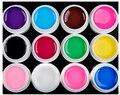 12 pcs/sets Pure Solid Glitter Color 2017 New Top Quality 8ml Polish Gel Soak off Decals Nails Manicure Art UV lasting Lacquer