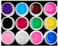 12 unids/set Brillo Color Sólido Puro 2017 Nuevo de Calidad Superior 8 ml Calcomanías de Uñas de Gel empapa de pulimento Manicura Arte UV Laca duradera