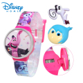100% Genuine Disney Fashion Brand watch Inside Out cartoon Watch Boys Girls Kid digital Watch relogio 89005-13