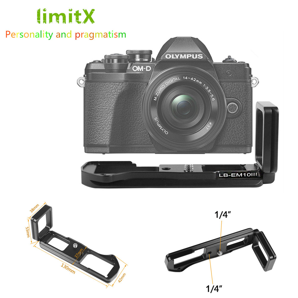 PRO Quick Release Vertical L Plate Bracket Hand Grip For Olympus PEN EP5 Tripod