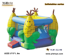 inflatable mini bouncy castle,corn inflatable playground toys,inflatable bouncer for kid Christmas gifts,house hold castle