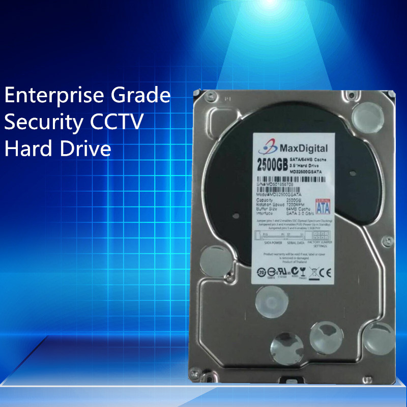 2500GB SATA 3.5inch Enterprise Grade Security CCTV Hard Drive Warranty for 1-year купить недорого в Москве