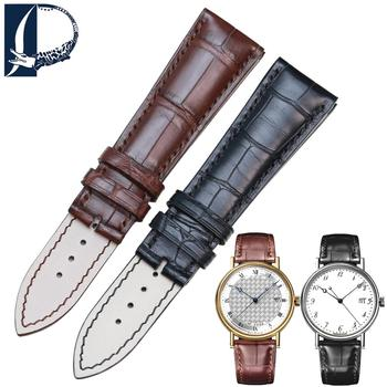 PESNO Crocodile Leather Wrist Band Alligator Skin Watch Strap Men Watch Accessories suitable for Breguet-CLASSIQUE 5177BA/BB/BR image