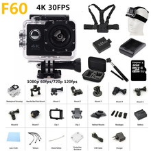 "4 K cámara de Acción F60 Allwinner V3 4 K/30fps 1080 P deporte WiFi 2.0 ""170D Helmet Cam bajo el agua ir a prueba de agua pro cámara"