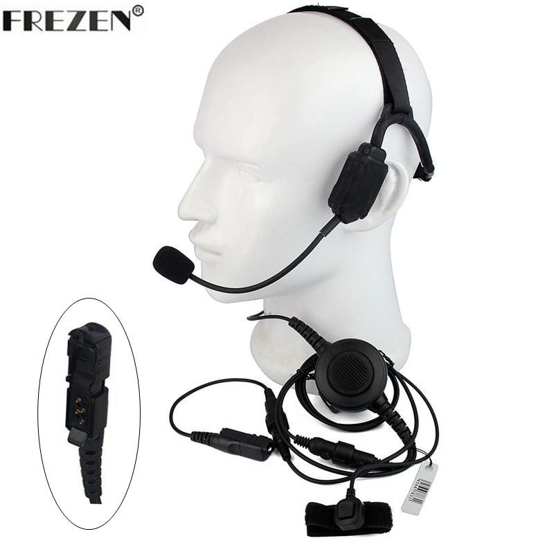 Walkie talkie Military Bone Conduction Tactical Headset boom mic For Motorola Radio XIR P6600 P6608 P6628 E8600 XPR3300 DEP570