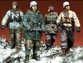 Scale Models 1/35 WW2 Germany  infantry squad patrolling winter WWII Historical Figure Resin Model Kit Free Shipping
