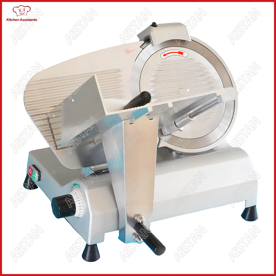 MS Series Electric Meat Slicer Machine aluminum-magnesium alloy body stainless steel disc blade meat vegetable fruit cutter