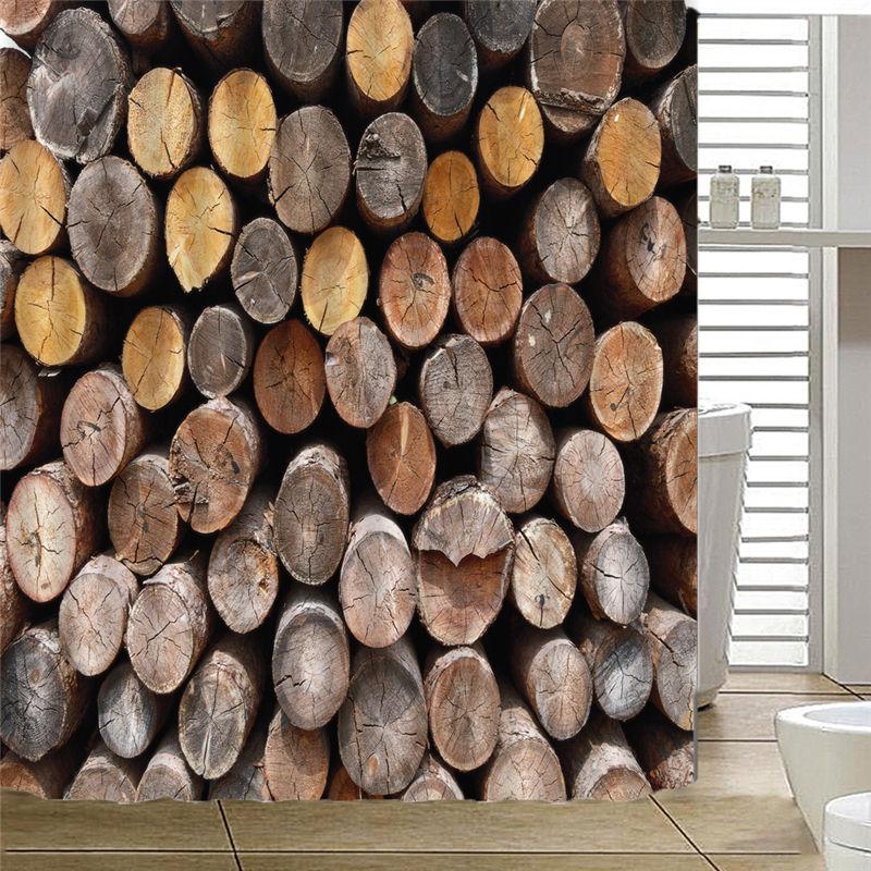 Bath Curtains Waterproof Beach Shells Log Bathroom Shower Curtain 180*180cm Drop Shipping AP20