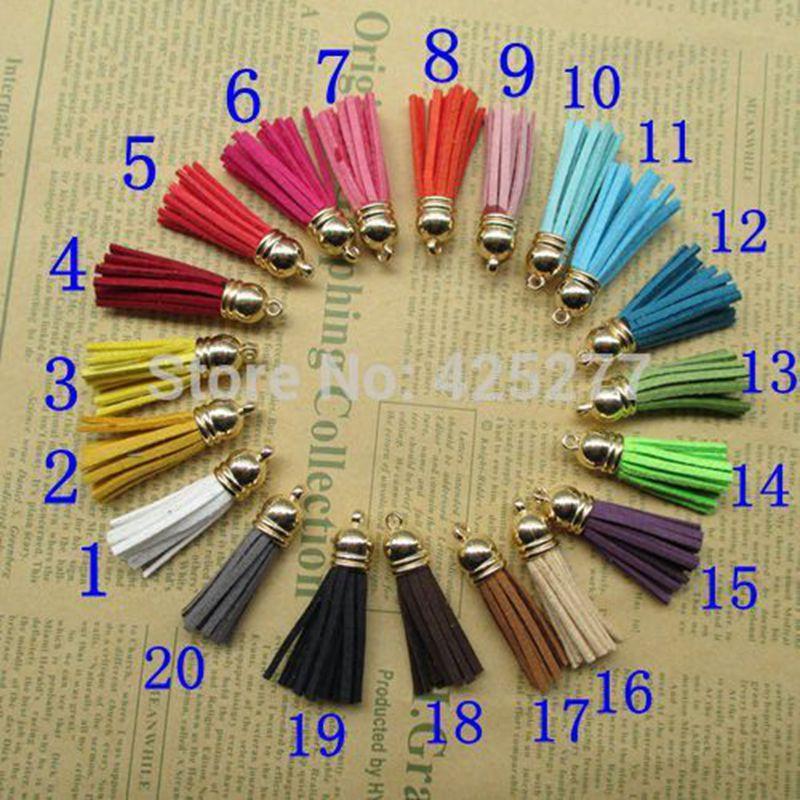 En gros  200 Pcs sac 35mm multicolore en option Glands En Cuir charmes  pendentif, idéal Accessoires pour DIY projets 020006003 f5ad04ab826