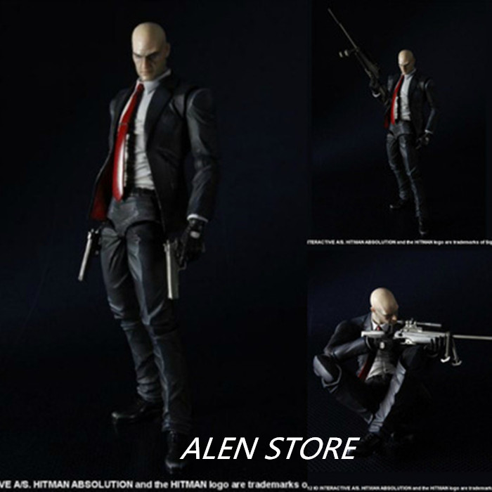 ALEN Play Arts Hitman Killer Agent 47 Action Figures Collection Model Toy 23cm image