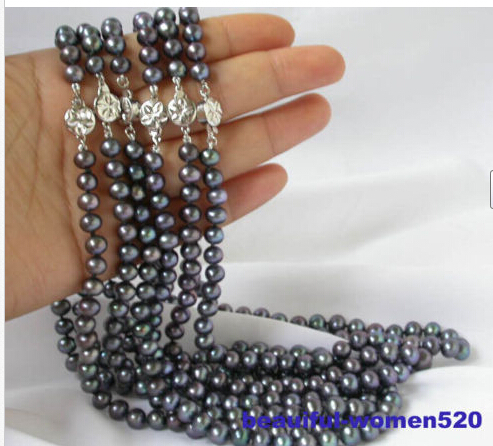 FREE SHIPPING>>@> > BJC 00021 round black freshwater pearl necklace HOT NEWFREE SHIPPING>>@> > BJC 00021 round black freshwater pearl necklace HOT NEW