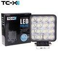 TC-X Offroad LED Trabalho Light 16x3 W Quadrado Led 12/24 V Extra Luz Portátil Luz de Inundação Caminhão Trator Motor Car Styling Atacado