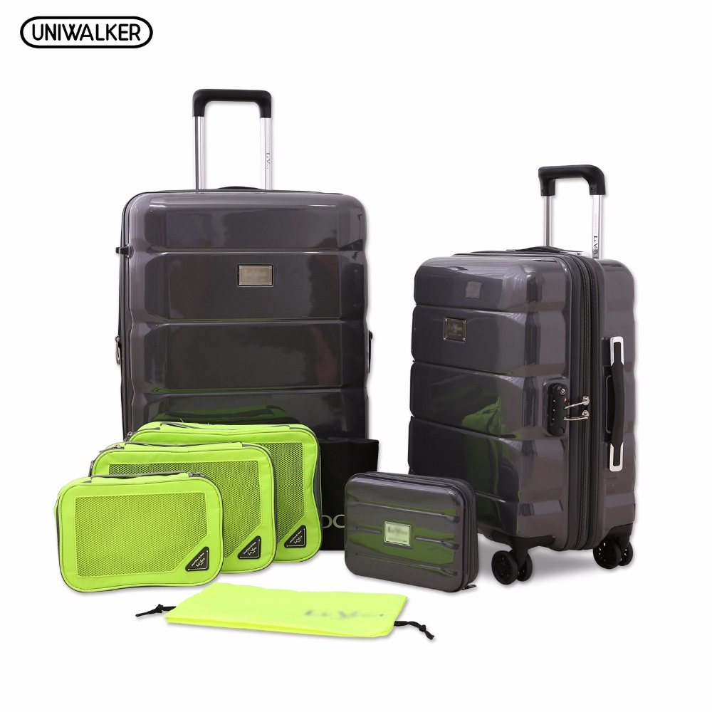 2PCS/SET Spinner PC Luggage, 20 and 24 Travelling Expandable Lightweight Rolling Suitcase With TSA Lock vintage suitcase 20 26 pu leather travel suitcase scratch resistant rolling luggage bags suitcase with tsa lock