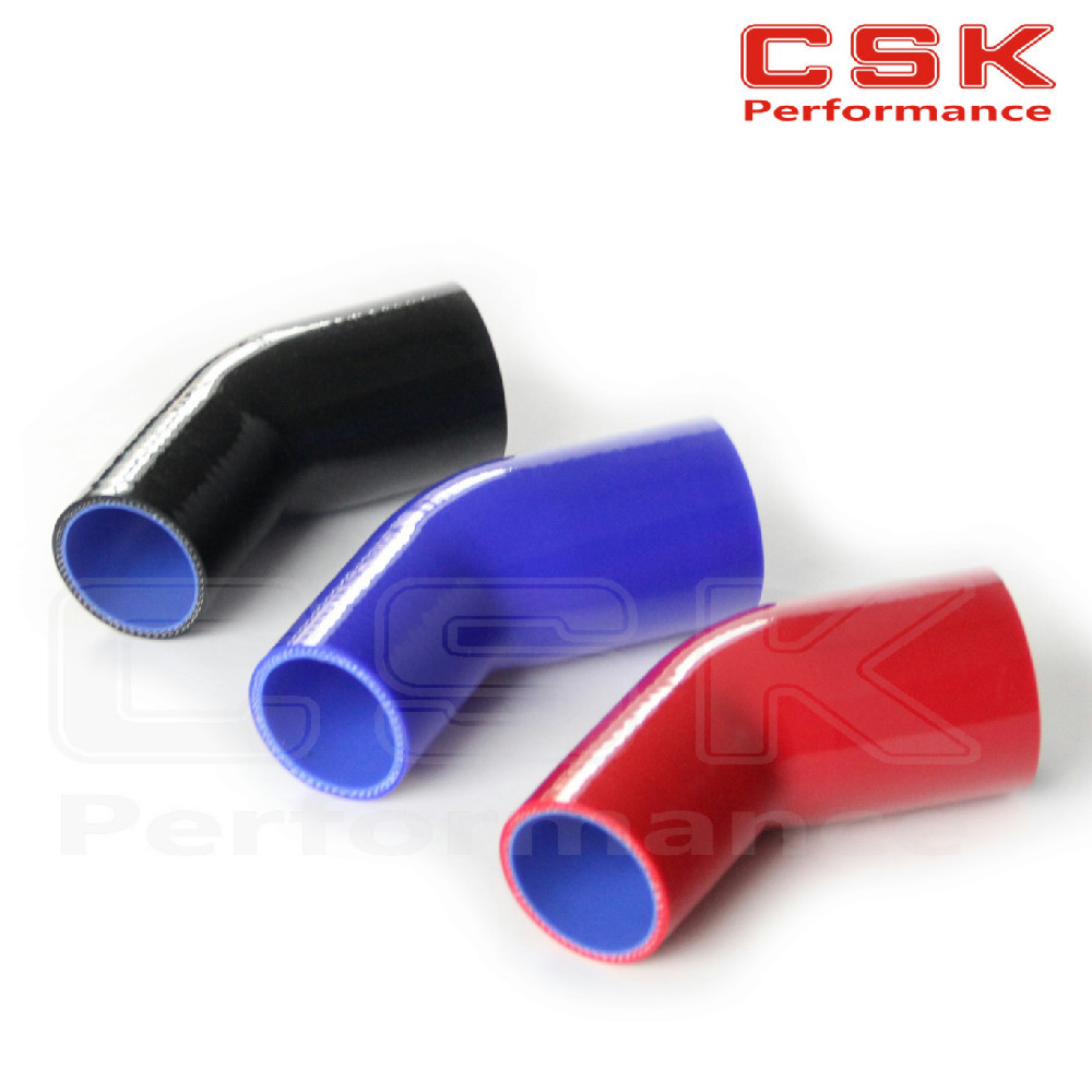 "57mm to 63mm//2.25/"" to 2.55/"" inch 45 degree Silicone Hose//Turbo Intercooler pipe"