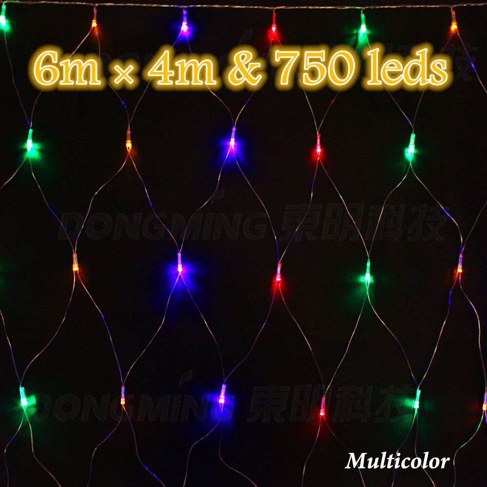 750leds 6*4m Net string light Outdoor garden party festival Wedding Decoration Mesh Led Christmas light 220V EU US plug