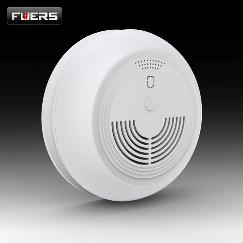 FUERS Smoke Detector With SMS Function SIM Card Wireless GSM Smoke Sensor Home Security Alarm System SMS Smoke Detectors