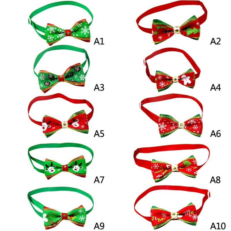 Pet Christmas Cat Collar Gift Adjustable Bow Knot Collar For Dogs And Cats, Lovely Small Dogs Collar