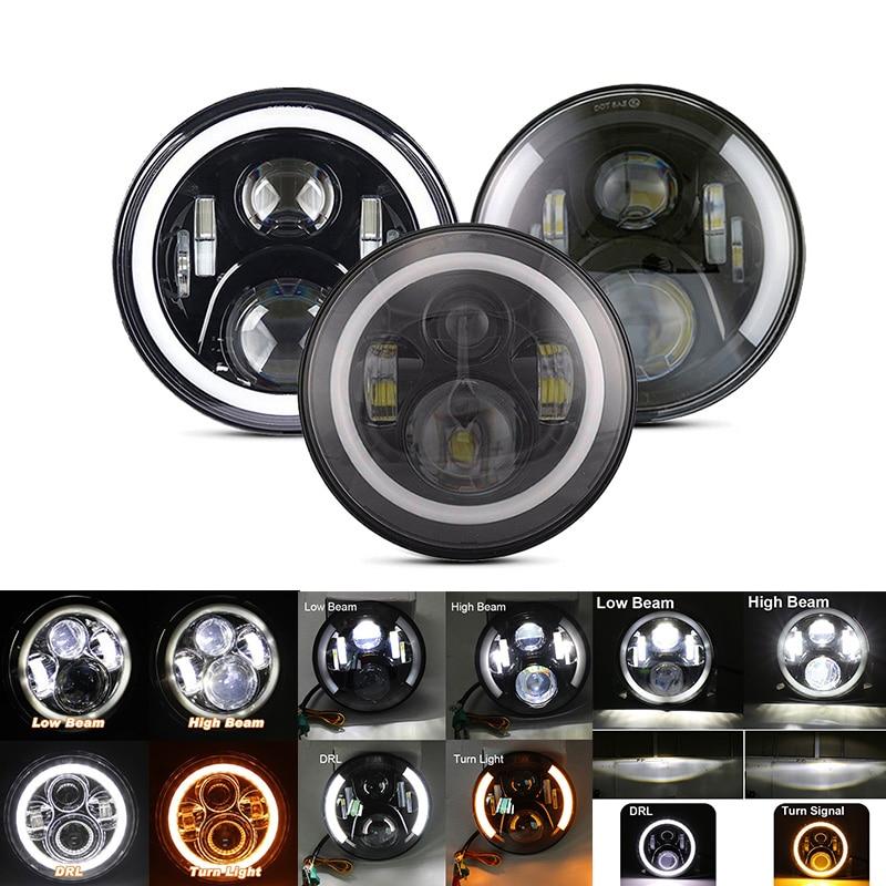 7 inch LED Headlight Car Led Driving Light Hi/Lo Beam DRL H4 H13 12V 6000K For Jeep Wrangler AM General Hummer Harley