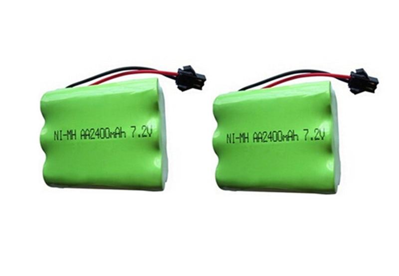 2pc 7 2v battery 2400mah ni mh bateria 7 2v nimh battery font b pilas b