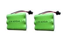 2 Unid 7,2 V batería 2400 mAh ni-mh batería 7,2 V pilas recargables nimh 7,2 V aa tamaño ni mh para rc coche juguete herramientas eléctricas
