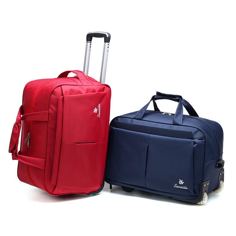 Trolley Travel Bag Hand Luggage Rolling Duffle Bags Waterproof Oxford Suitcase Wheels Carry On Luggage Unisex