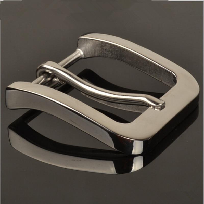 Retail Hot selling Högkvalitativ 58 * 53mm Solid rostfritt stål Mansbandsspänne för 4cm Wide Belt Fashion mens Jeans tillbehör