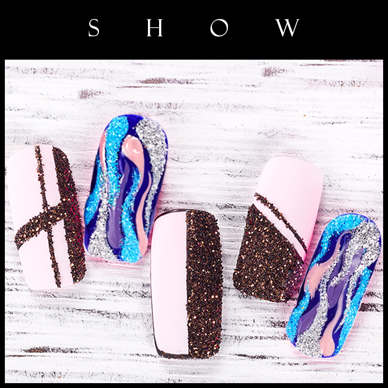 10ml bottle Nail Glitter Powder 24 colors Nail Sequins Gold Silver Blue Black Purple White Nail Art Powder Glitter NAK in Nail Glitter from Beauty Health