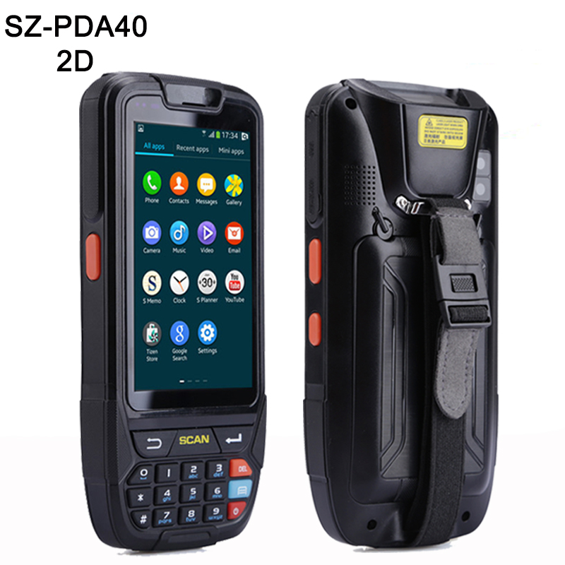 Высокая емкость батареи 4000 мА Android сканер штрих кода ручной терминал КПК с 2D сканирования штрих кодов