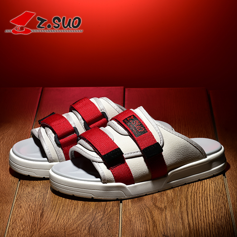 2018 zsuo men s most popular fashion sandals male canvas outdoor solid color slippers free shipping