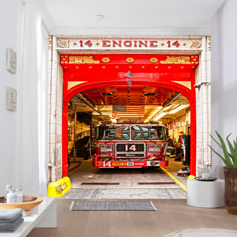 Fire Station Wall Mural Gallery · Lovely Fire Station Wall Mural Pictures  Gallery Part 7
