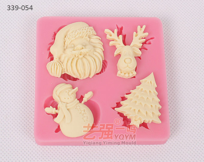 2015 yqym new arrival free shipping siicone cake christmas moldsilicone mold christmassilicone christmas mold 3d in cake molds from home garden on