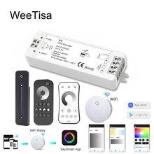 LED Dimmer 12 V 24 V 2.4G PWM Touch RF Draadloze Afstandsbediening 5 V 36 V Enkele Kleur LED Strip Light Smart Wifi Dimmer