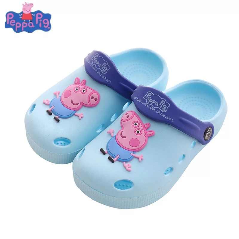 2019 Genuíno sapatos chinelos bebê verão dos desenhos animados do PEPPA PIG crianças indoor/outdoor anti-skid meninos meninas peppa george chinelos
