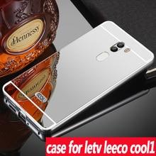 Для LeTV LeEco cool1 случае Роскошные Панцири металла Алюминий Рамки зеркало акрил задняя крышка для LeTV LeEco cool1 телефон защитный