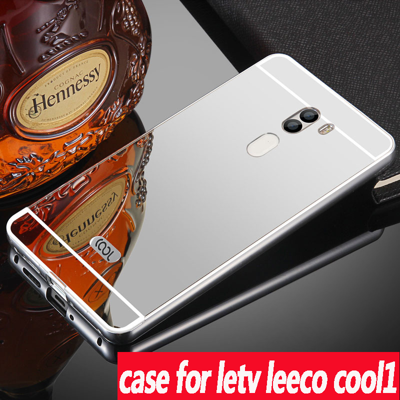 For Letv LeEco Cool1 case Luxury Armor Metal Aluminum Frame Mirror Acrylic Back Cover Case For Letv LeEco Cool1 Phone protective