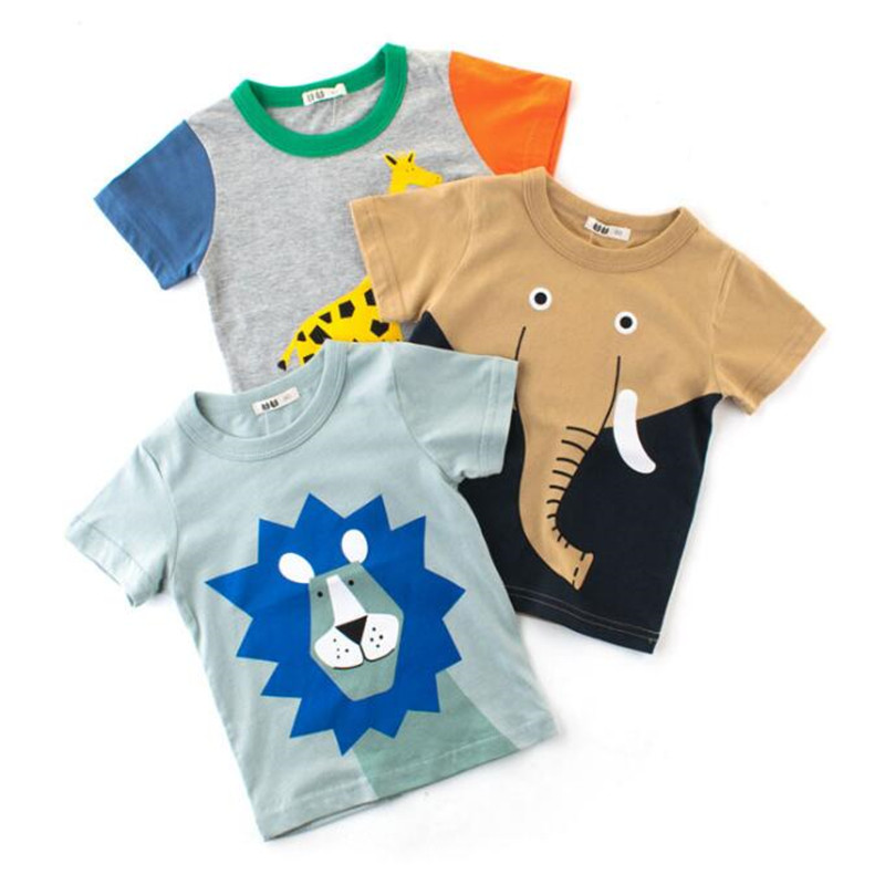Brand Baby Boy Tops Summer Clothes Boys T-shirt High quality Cotton Animal Printed Clothing Children T shirts Kids Boy Tee Shirt wa05820ba fantastic top quality luxury men t shirt 2018 summer europe designer t shirt men famous brand fashion tee tops