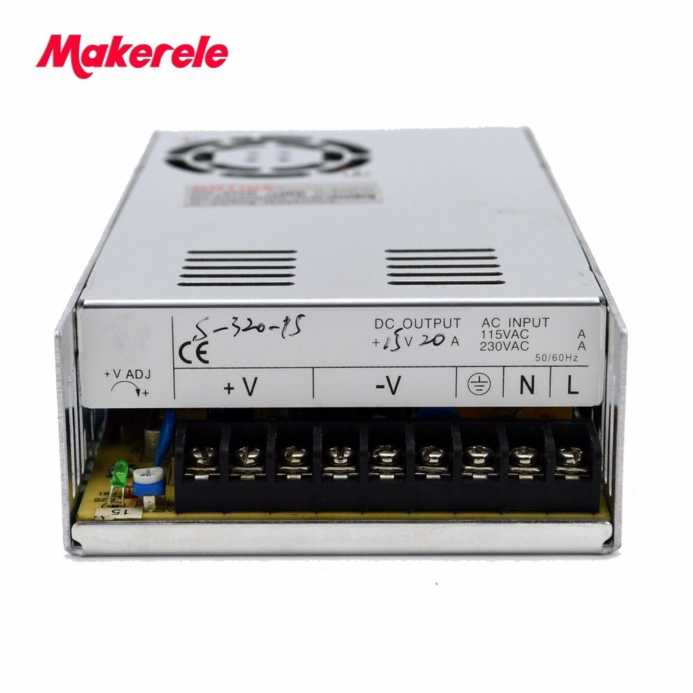 320W switch power supply CE ROHS ISO9001 high efficiency 220v ac to 24vdc 12.5a switching model power supply ce rohs high precision1200 watt power supply