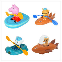Original box genuine PEPPA PIG package 4 action doll set - submarine small column pigs Peggy kayak children play water toys