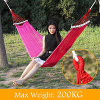 High Density Polyester Net Camping Double Hammock Load Bearing 200Kg Durable Hammocks Like Parachute For Traveling