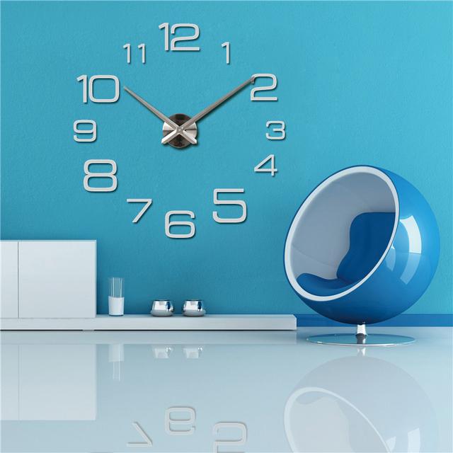 2016 New Diy Wall Clock Acrylic diy Clocks Quartz Watch Reloj De Pared Living Room Modern 3d Mirror Stickers Horloge Home Klok