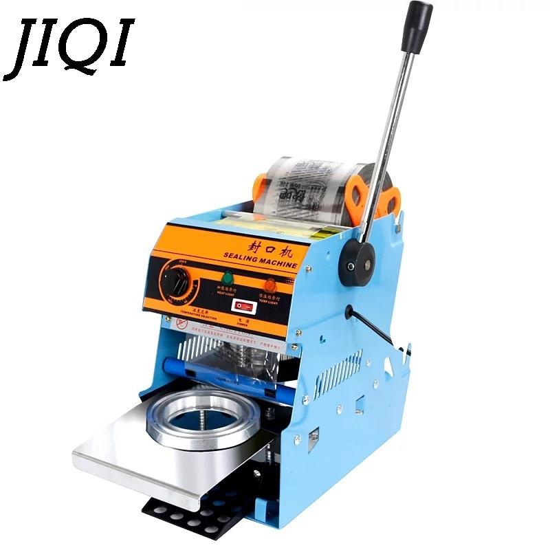 JIQI Manual Handle Cup Sealing Machine Commercial Sealer Hand Pressure Sealing Maker Bubble Pearl Milk Tea Shop Closure Cup Lid